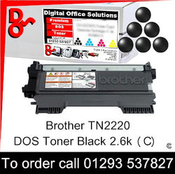 Brother Toner TN2220 TN-2220 Black Toner Premium Compatible Quality Guaranteed for sale Crawley West Sussex and Surrey