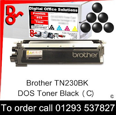 Brother Toner TN230BK TN-230BK Black Toner Premium Compatible Quality Guaranteed for sale Crawley West Sussex and Surrey