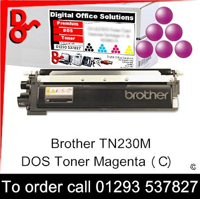 Call 01293 537827 to order Toner Brother Magenta (M) Genuine Toner Cartridge sales TN240M TN-240M, 1.4k yield, in stock, nationwide next day delivery