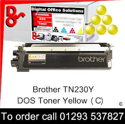 Brother Toner TN230Y TN-230Y Yellow Toner Premium Compatible Quality Guaranteed for sale Crawley West Sussex and Surrey