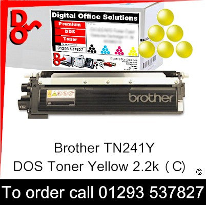 Brother Toner TN231Y TN-241Y Yellow Premium Compatible Quality Guaranteed for sale Crawley West Sussex and Surrey