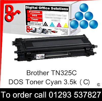 Brother Toner TN325C TN-325C Cyan Premium Compatible Quality Guaranteed for sale Crawley West Sussex and Surrey
