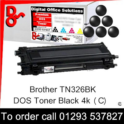 Brother Toner TN326BK TN-326BK Black Premium Compatible Quality Guaranteed for sale Crawley West Sussex and Surrey