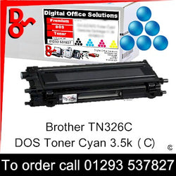 Brother Toner TN326C TN-326C Cyan Premium Compatible Quality Guaranteed for sale Crawley West Sussex and Surrey