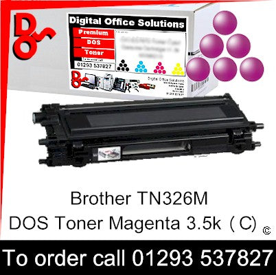 Brother Toner TN326M TN-326M Magenta Premium Compatible Quality Guaranteed for sale Crawley West Sussex and Surrey