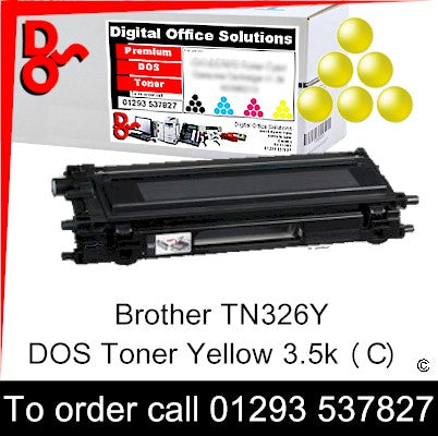 Brother Toner TN326Y TN-326Y Yellow Premium Compatible Quality Guaranteed for sale Crawley West Sussex and Surrey
