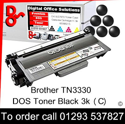 Brother Toner TN3330 TN-3330 Black Premium Compatible Quality Guaranteed for sale Crawley West Sussex and Surrey