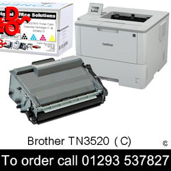 Brother Toner TN3520 TN-3520 Black Toner Premium Compatible Quality Guaranteed for sale Crawley West Sussex and Surrey