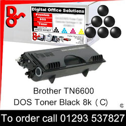 Brother Toner TN6600, TN-6600 Black Premium Compatible Quality Guaranteed for sale Crawley West Sussex and Surrey