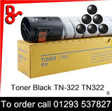 Toner Black TN-322, TN322 - A33K050 for Konica Minolta, Develop, & Olivetti Printers for sale Crawley West Sussex and Surrey, Nationwide next day delivery