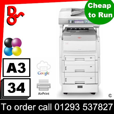OKI MFP Printer A3 OKI MC861cdxn Multi Function Printer Refurbished 01318203 for sale Crawley West Sussex and Surrey