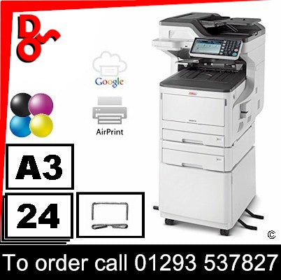 OKI MC853dnct MFP Multi-Function Executive Series A3 Colour Printer Refurbished 45850601