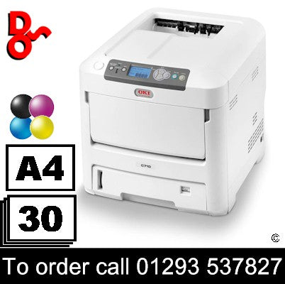 OKI C710dn Colour Printer A4, 112k Prints Refurbished for sale