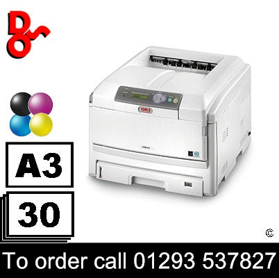 OKI C810dn Colour A3 refurbished Laser Printer 42k for sale Crawley West Sussex and Surrey