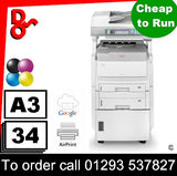 OKI MC860cdtn Colour Multi-Function A4/A3, 2x Paper Trays 220k Excellent Condition for sale