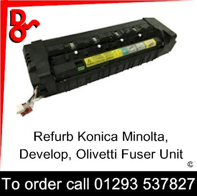 Fuser Unit Genuine for use in Konica Minolta Bizhub C220/280/360, Develop Ineo+ 220/280/360, Olivetti d-Color MF220/280/360