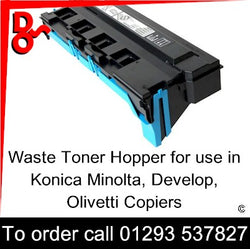 Waste Toner Hopper A4NNWY1 - B1051 for use in Konica Minolta, Develop & Olivetti MFP Printers