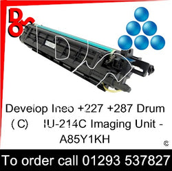 Develop Ineo +227 +287 Drum (C)  IU-214C Imaging Unit - A85Y1KH   next day UK Nationwide call 01293 537827