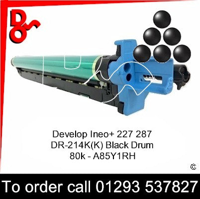 Develop Ineo +227 +287 Drum (K)  DR-312 Imaging Unit - A7Y01RH   next day UK Nationwide call 01293 537827