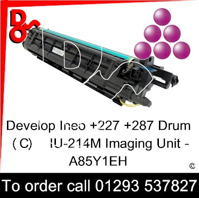 Develop Ineo +227 +287 Drum (M) Magenta IU-214M Imaging Unit - A85Y1EH   next day UK Nationwide call 01293 537827