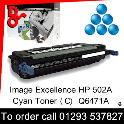 HP Toner 502A Q6471A Cyan Premium Compatible Quality Guaranteed