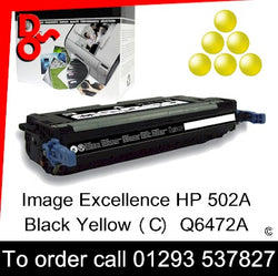 HP Toner 502A Q6472A Yellow Premium Compatible Quality Guaranteed sales Crawley West Sussex and Surrey