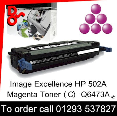 HP Toner 502A Q6473A Magenta Premium Compatible Quality Guaranteed sales Crawley West Sussex and Surrey