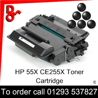 HP Toner CE255X Black Premium Compatible HP55X Crawley West Sussex and Surrey