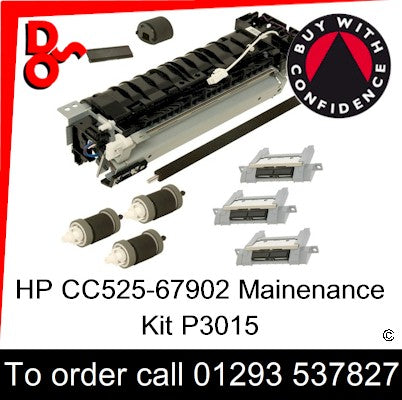 HP Spare Part, Maintenance Kit, CE525-67902 HP P3015 Maintenance Kit 230v for sale in stock at our Crawley warehouse today for fast, UK wide delivery with a 12 month guarantee