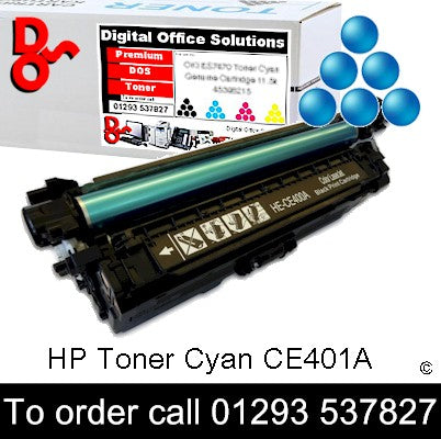 HP Toner 507A CE401A Cyan Premium Compatible Quality Guaranteed for sale Crawley West Sussex and Surrey