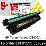 HP Toner 507A CE402A Yellow Premium Compatible Quality Guaranteed for sale Crawley West Sussex and Surrey