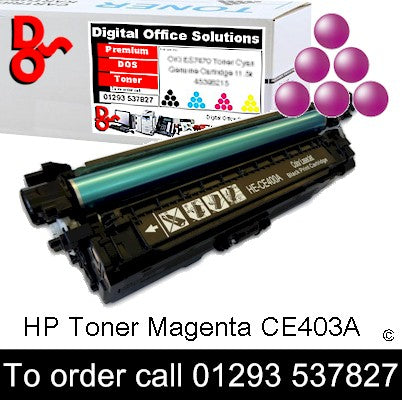 HP Toner 507A CE403A Magenta Premium Compatible Quality Guaranteed for sale Crawley West Sussex and Surrey