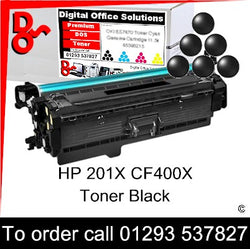 HP 201X Black Toner Cartridge CF400X Premium Compatible Quality Guaranteed for sale Crawley West Sussex and Surrey