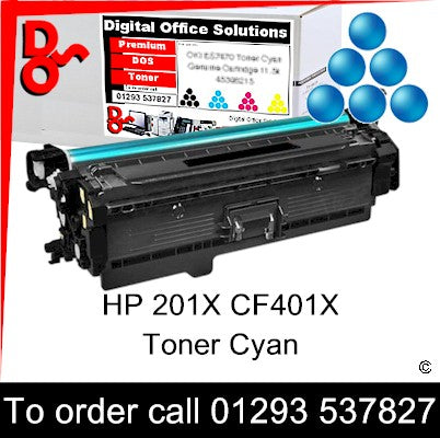HP 201X Cyan Toner Cartridge CF401X Premium Compatible
