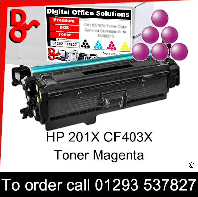 HP 201X Magenta Toner Cartridge CF403X Premium Compatible