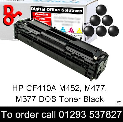HP Toner 410A CE410A Black Premium Compatible Quality Guaranteed sales Crawley West Sussex and Surrey