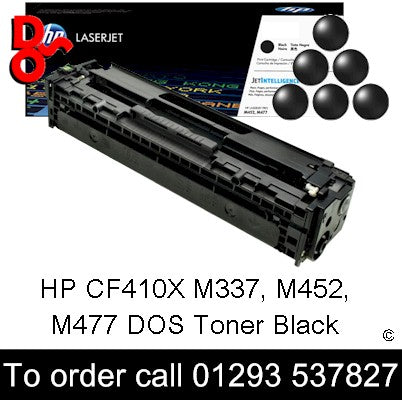 HP Toner 410X CF410X Black Genuine HP Toner Cartridge for sale Crawley West Sussex and Surrey