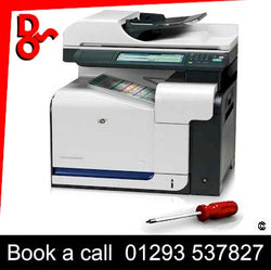 Trading Standards approved On-site HP Color LaserJet CM3530 MFP Printer Repair Service Zone A West Sussex and Surrey We will undertake on-site laser printer repairs on HP Color LaserJet CM3530 MFP Laser Printers