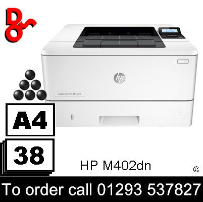 HP Printer Mono A4 LaserJet Pro M402dn Laser Printer C5F94A sales  Crawley West Sussex and Surrey