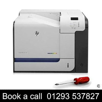 HP Pinter repair service HP Pro M570 Color Laser Printer On-site Repair Service for sale Crawley West Sussex and Surrey
