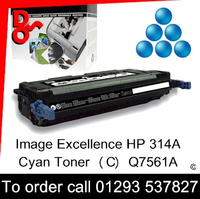 HP Toner 314A Q7561A Cyan Premium Compatible Quality Guaranteed sales Crawley West Sussex and Surrey