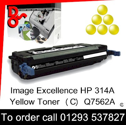 HP Toner 314A Q7562A Yellow Premium Compatible Quality Guaranteed sales Crawley West Sussex and Surrey