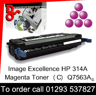 HP Toner 314A Q7563A Magenta Premium Compatible Quality Guaranteed sales Crawley West Sussex and Surrey