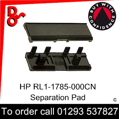 HP Spare Part, Paper Feed T1, RL1-1785-000CN, RL1-1785-000, RL1-1785 Separation Pad for sale in stock at our Crawley warehouse today for fast, UK wide delivery with a 12 month guarantee