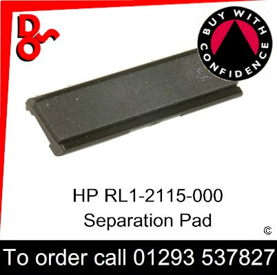 HP Spare Part, Paper Feed T1, RL1-2115-000CN, RL1-2115-000, RL1-2115 Separation Pad for sale in stock at our Crawley warehouse today for fast, UK wide delivery with a 12 month guarantee