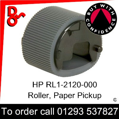 HP Spare Part, Paper Feed T1, RL1-2120-000CN, RL1-2120-000, RL1-2120 Roller, Paper Pickup for sale in stock at our Crawley warehouse today for fast, UK wide delivery with a 12 month guarantee