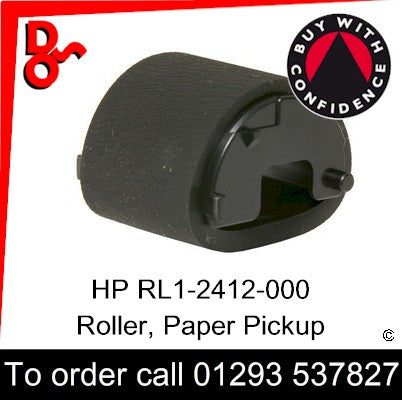 HP Spare Part, Paper Feed T1, RL1-2412-000, RL1-2412 Roller, Paper Pickup for sale in stock at our Crawley warehouse today for fast, UK wide delivery with a 12 month guarantee