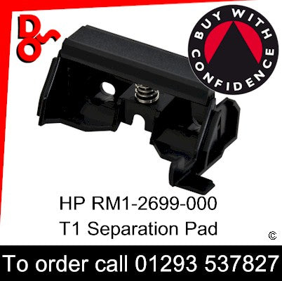 HP Spare Part, Paper Feed T1, RM1-2699-000 Separation Pad Assembly (MP Tray)