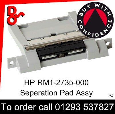 HP Spare Part, Paper Feed T3, RM1-2735-000 Separation Pad Assembly (500 sheet tray) for sale Crawley West Sussex and Surrey