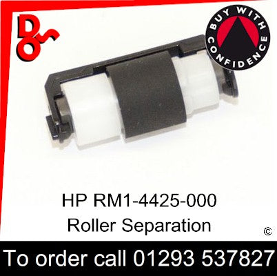 HP Spare Part, Paper Feed T2, RM1-4425-000CN, RM1-4425-000, RM1-4425 Roller, Separation for sale in stock at our Crawley warehouse today for fast, UK wide delivery with a 12 month guarantee